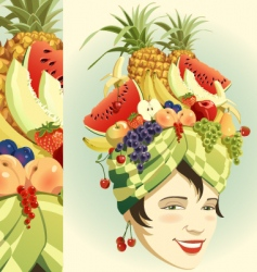 Fruit hat vector
