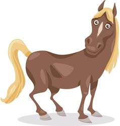 Funny horse cartoon vector