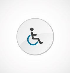 Cripple icon 2 colored vector