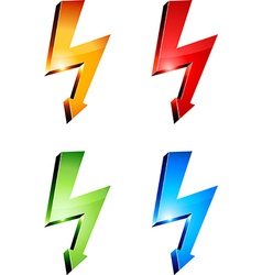 Electricity warning symbols vector