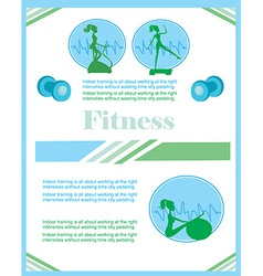 Fitness club flyer vector