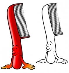 cartoon comb vector image