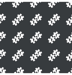 Straight black people puzzle pattern vector