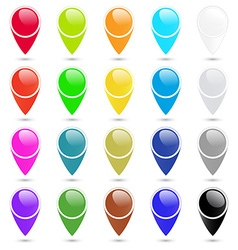 Set of colorful empty blank labels to indicate on vector