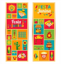 Festa junina village festival in latin america vector