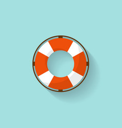 Lifebuoy in a flat style protection equipment for vector