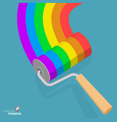 aibow paint roller vector image