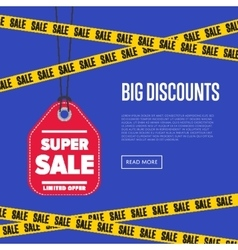 Big discount banner with sale sticker vector