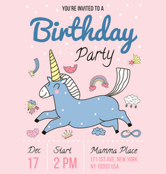 Birthday party invitation poster vector