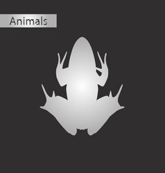 black and white style icon of toad vector image