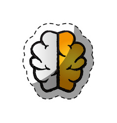 Brain human creative icon vector