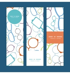 colorful glasses vertical banners set vector image vector image