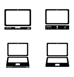 Computers icons set vector