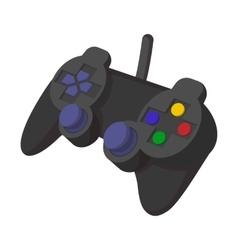 Console joystick cartoon icon vector image