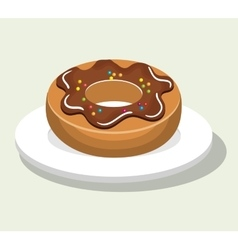delicious and sweet donut isolated icon design vector image vector image