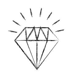 Elegant diamond isolated icon vector