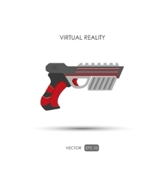 Gun for virtual reality system Game weapons vector image vector image