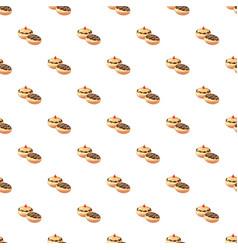 Hanukkah doughnut pattern vector