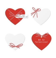 Hearts with bakers twine vector