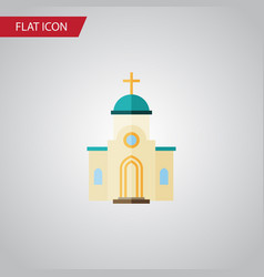 Isolated architecture flat icon religious vector