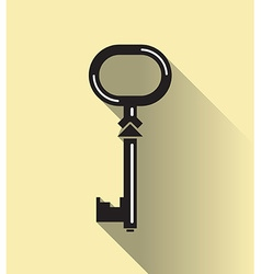 Key in flat vector image