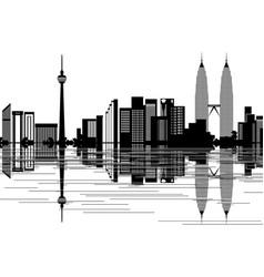 kuala lumpur skyline vector image