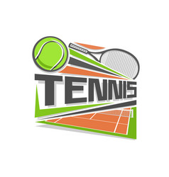 logo for tennis vector image