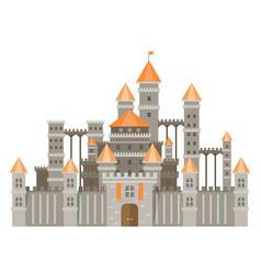 Magic fantasy castle - flat style vector