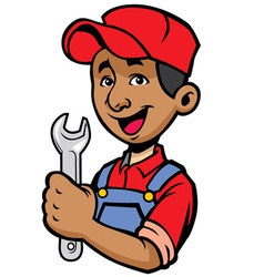 mechanic vector image