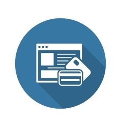 Online payment icon vector