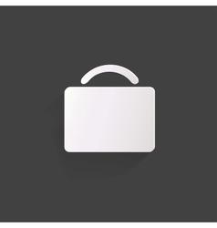 Portfolio web icon vector