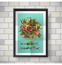 poster with flowers vector image vector image