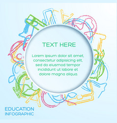 school infographic template vector image vector image