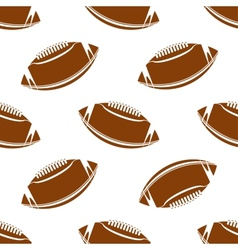 Seamless pattern of football or rugby ball vector image