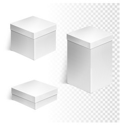 set of three boxes vector image