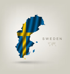 Swedish flag as a country vector