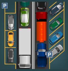 Traffic jam concept vector