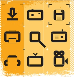 Urban icons for media vector image vector image