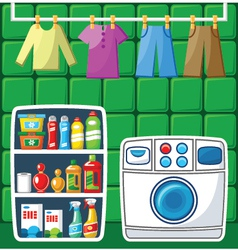 Washing room vector image