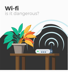 wi-fi danger vector image