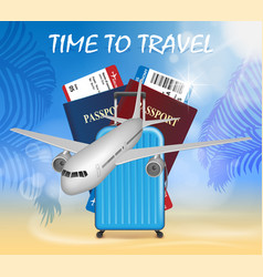 world travel and tourism concept banner in vector image vector image