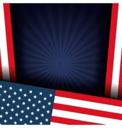 Usa flags frame decoration vector