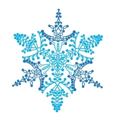 Hand-drawn doodles natural snowflake zentangle vector