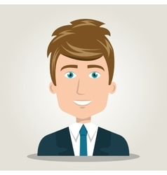 Cartoon man elegant human resources vector