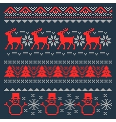 Christmas pixel background scandinavian vector