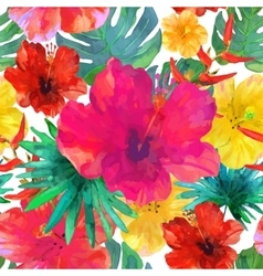 Seamless floral background Tropical colorful vector image