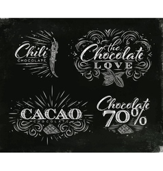 Chocolate labels collection black vector