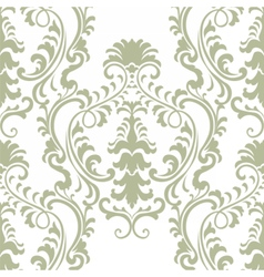 Classic floral damask baroque ornament vector
