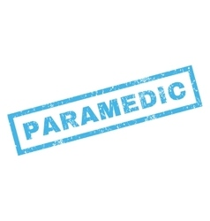 Paramedic rubber stamp vector