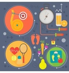 Healthy life flat concept vector
